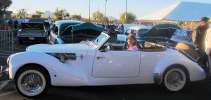 Sonoran Lifestyle President Dori Wittrig at the Silver Car Auction,