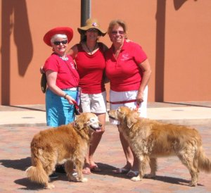 Suzanne Nann, Rosa Janssen, Pat Pagliuco, Fountain Hills Veterans Day Celebration