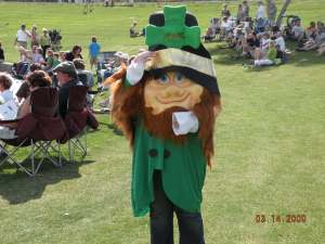 Lucky The Leprechaun at Fountain Hills St. Patricks Day