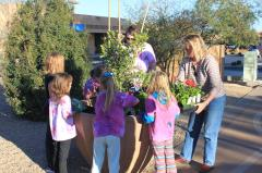 Fountain Hills Girl Scouts Help with the Planting of The Avenue of the Fountains