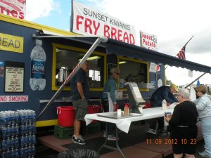 Civic Groups like Kiwanis Intl serve up Tasty Treats...Try some Fry Bread!