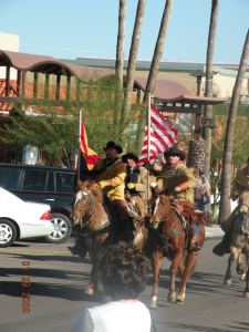 The Hashknife Pony Express Riders come through Fountain Hills January 31, 2013