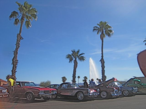 A beautiful day of cars and The Fountain