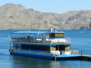 The Desert Belle cruises Saguaro Lake (photo courtesy Teresa Arbisi)