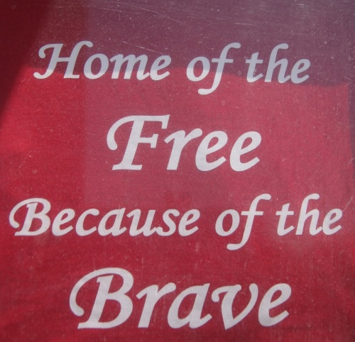 Local residents are encouraged to wear their Home of the Free tee shirts available from the VFW