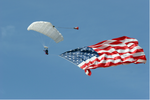 Skydivers will bring in the July 4th festivities at Fountain Park