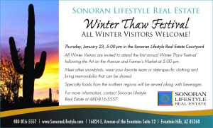 "Wear Your Team Colors & Join the ""Winter Thaw"" Festival Thursday, January 23"