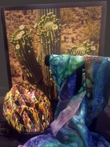 A few items donated for the Wounded Warrior Art Auction Benefit at Fountain Hills Artist Gallery