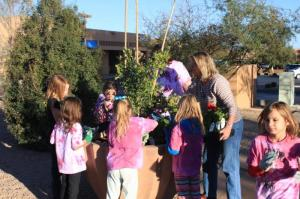 Brownie troop on Make a difference day
