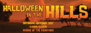 halloween in the hills banner